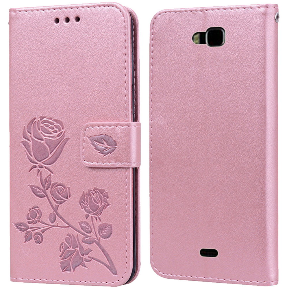 Luxury Leather Flip Book Case for Huawei Ascend Y541 Honor Bee Y5C Y541-u02 Rose Flower Wallet Stand Case Phone Cover Bag coque