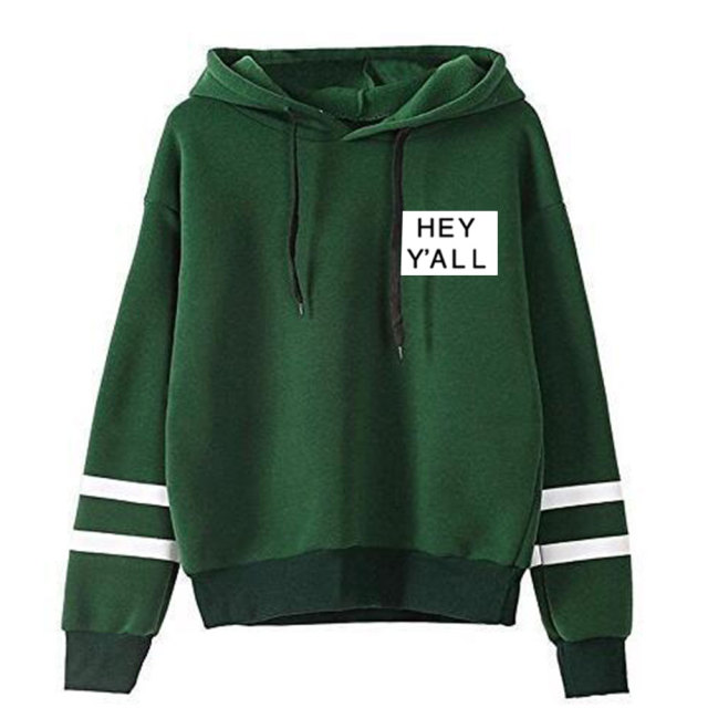 ADDISON RAE: HEY Y'ALL THEMED STRIPED HOODIE (5 VARIAN)