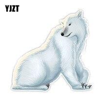 YJZT 15CM*15CM Automotive Products Polar Bear Carnivore PVC