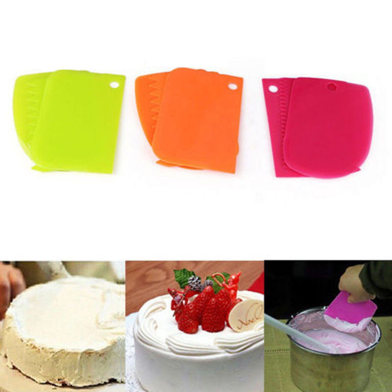 Multifunctional Color Irregular Scraper Toothed Scraper DIY Cake Mold Tool Cream Plastic Scraper Molding Mold Kitchen Tool