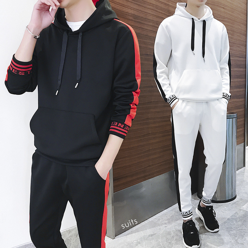 Kirby Deng 2019 Autumn Clothing New Products Hoodie Suit Leisure Suit Sports Clothing Set MEN'S Coat Two-Piece Set Fashion