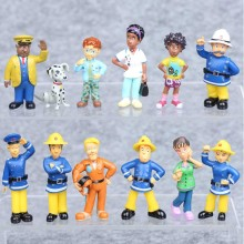 купить 12 Pcs Cute Cartoon Fireman Sam Brinquedos PVC Action Figures Doll Toys for Collection Model Decoration Christmas Kids Gift B730 по цене 192.14 рублей