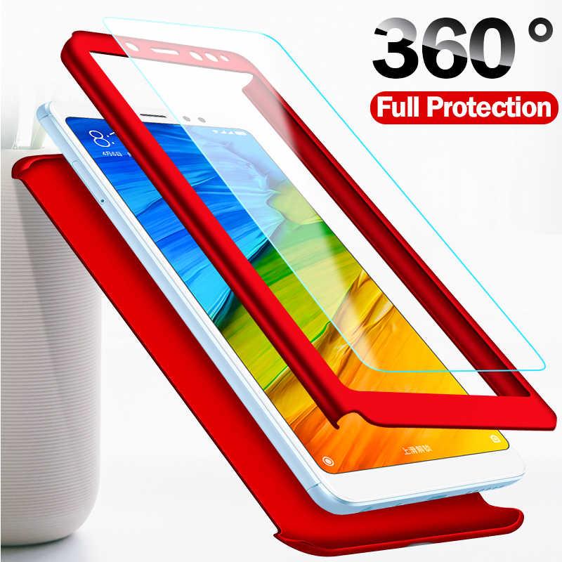 جراب هاتف زجاجي كامل 360 لهاتف آيفون 6 6S 7 8 Plus 5 5s SE مع حقيبة لهاتف أي فون X XS 11 Pro MAX XR