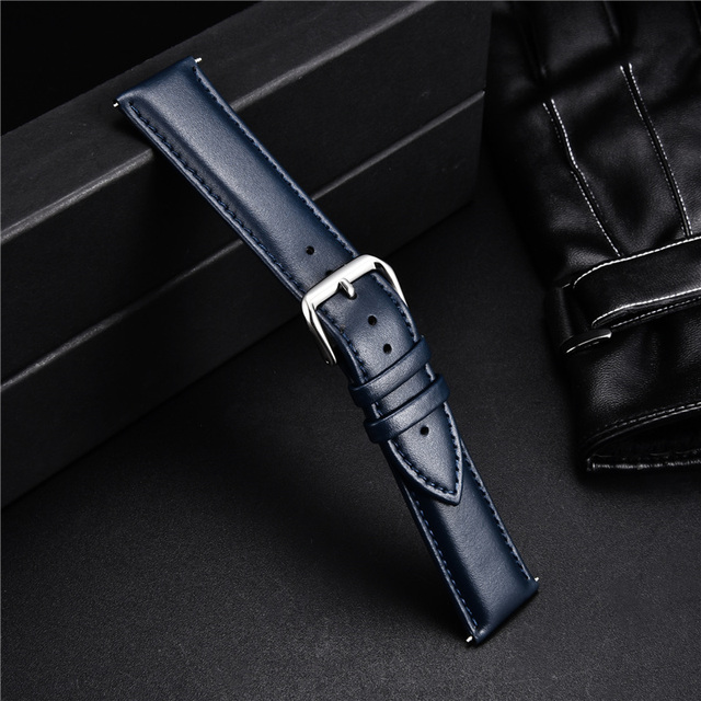 Smooth Calfskin Leather Watchband (Multiple Colours) 2