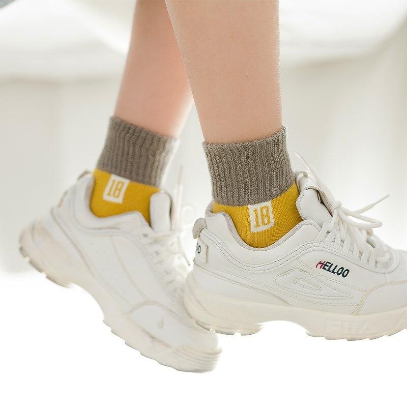 1 piece=5 pair Children's Cotton Socks Student Socks Floor Kids Socks Autumn Winter Spring Boys And Girls Multi Color Sock 2