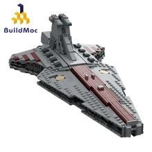 Buildmoc Star Toys Wars UCS Venator Republic Attack Cruiser Set Buidling Blocks Bricks Toys Children Christmas Gift