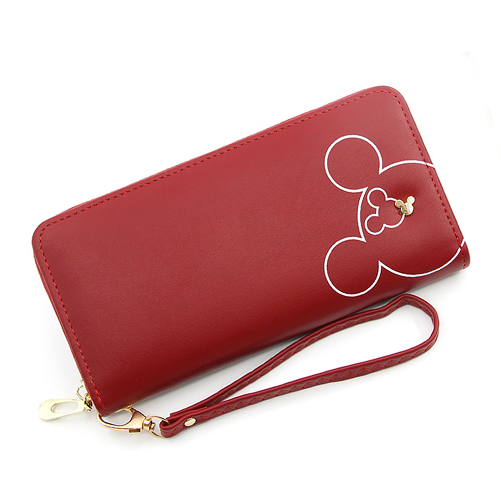 Money Purse Wristband Phone-Pocket Zipper Wallets Long Clutch Pink Large-Capacity Design title=