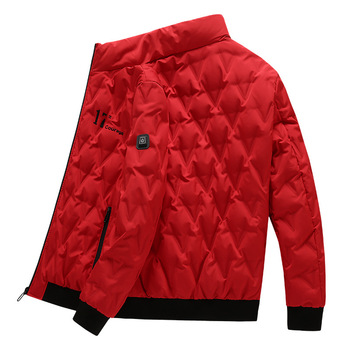 PARATAGO Men Women Intelligent Heating Jacket Winter Battery Warm Heated Jackets Abdomen Fever Coat Ourdoor Hiking Clothing P912