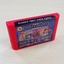 Емкость аккумулятора 2G, игровая карта 218 в 1 для Sega Megadrive Genesis с Shining Force II Langrisser II Sonic The hежик 3