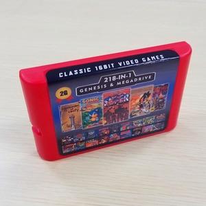 Image 1 - 2G Capaciteit Batterij Bespaar 218 In 1 Game Card Voor Sega Megadrive Genesis Met Shining Force Ii Langrisser Ii sonic The Hedgehog 3