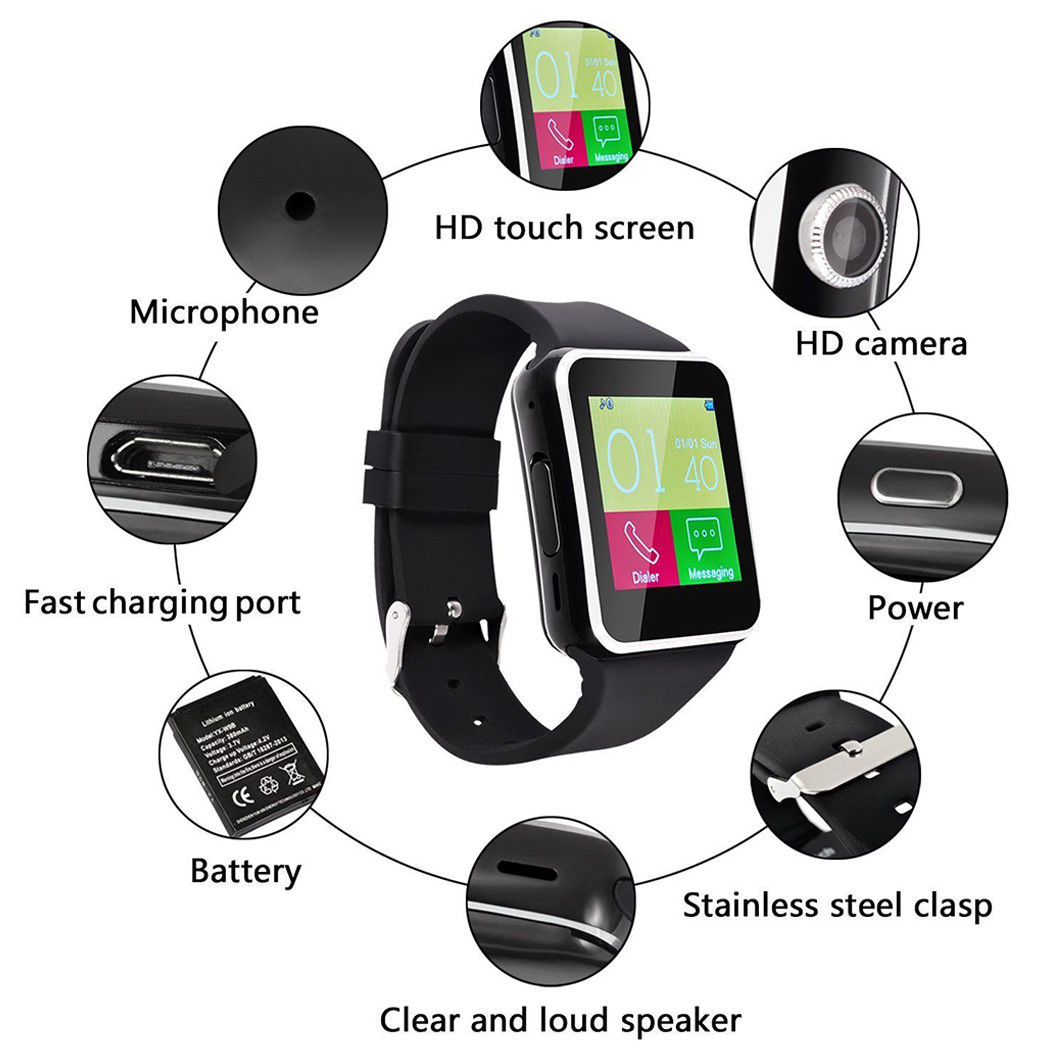 Compass Blood-Pressure-Monitoring Couple Watch Heart-Rate High-Security Call-Reminder