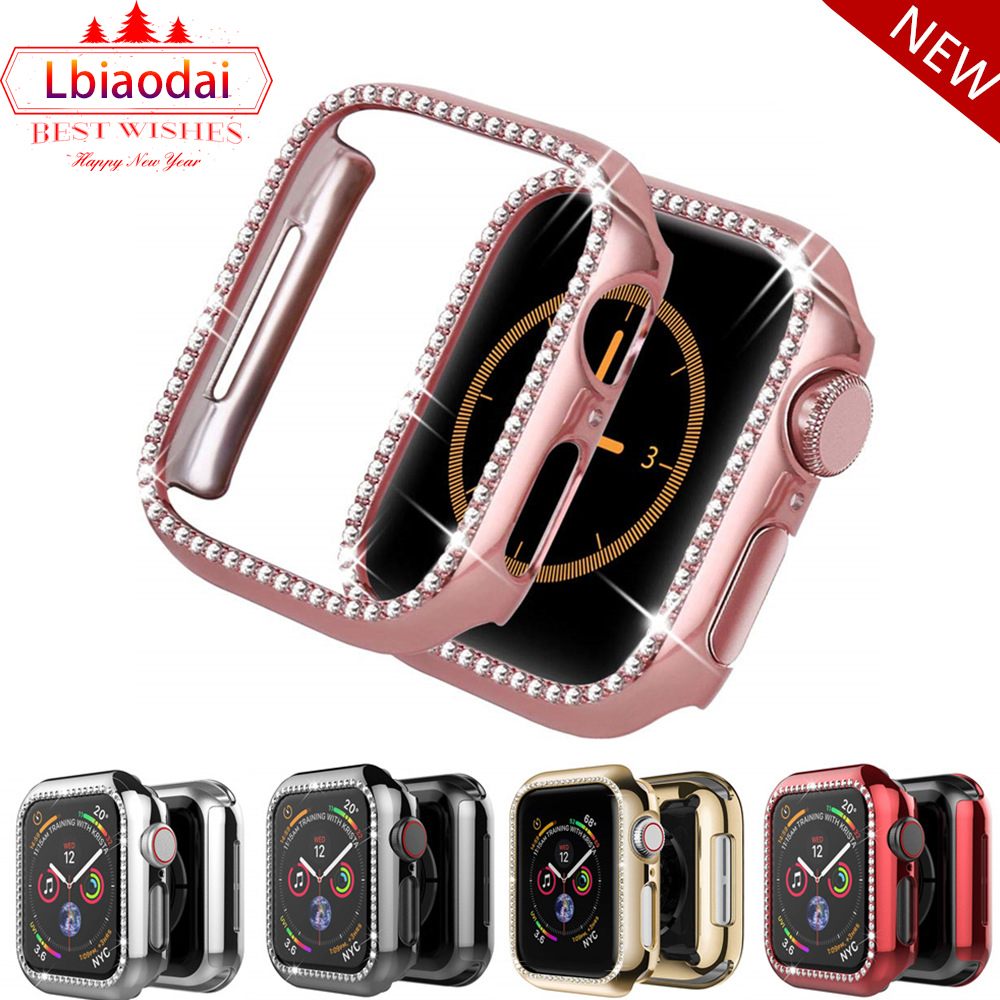 Bling bumper For Apple watch Case cover Apple watch 4 5 44mm 40mm 42mm 38mm Diamond Protector case iWatch 5 4 3 2 Accessories 38 image