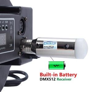 Image 5 - DMX512 bezprzewodowy nadajnik 2.4G ISM wbudowany odbiornik baterii zestaw sterowniczy dla DJ Club Party etap efekt oświetlenia DMX 1 + 6 sztuk