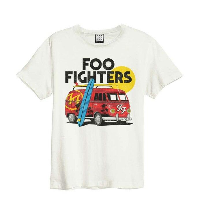 Foo Fighter Harajuku Streetwear Shirt Men Van Shirt