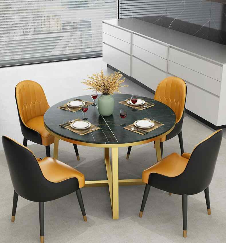 Nordic Light Luxury Marble Stone Dining Table Round Family Living Room Kitchen Dining Table Small Family Type 4 People 6 People Living Room Sets Aliexpress