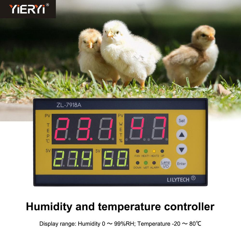 Yieryi <font><b>ZL</b></font>-<font><b>7918A</b></font> Digital Incubator Controller Temperature and Humidity Controller for Poultry Egg Incubator image