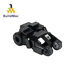 BuildMoc UCS Batmobile Justice league Bat mini Final MOC- 4354 Toy Vehicles Toy Car Model Toys For Children Kids