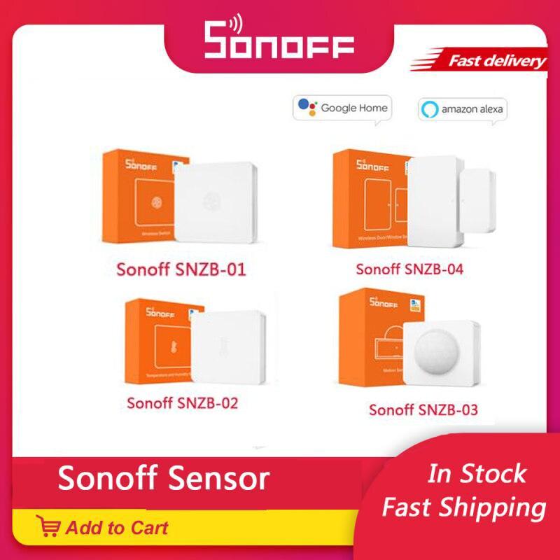 SONOFF SNZB-01 02 03 04 ZigBee Temperature And Humidity Sensor Real Time LowBattery Notification Works SONOFF ZigBee eWeLink APP