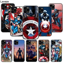 Lavaza marvel captain américa silicone macio caso para iphone 11 pro xs max xr x 8 7 6 s plus 5 5S se(China)