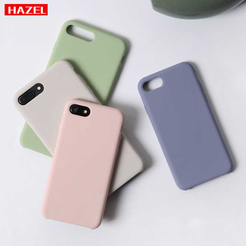 Funda de teléfono suave de Color liso Simple para iPhone XS Max, carcasa de silicona TPU a la moda para iPhone 6 S 7 8 Plus X XR coque