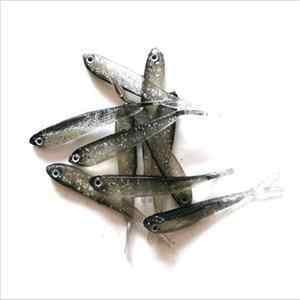 1 ピース/ロット 70 ミリメートルソフトルアー手作りソフト魚ルアーシャッドマニュアルシリコーン低音 Y テール水泳餌釣りタックル