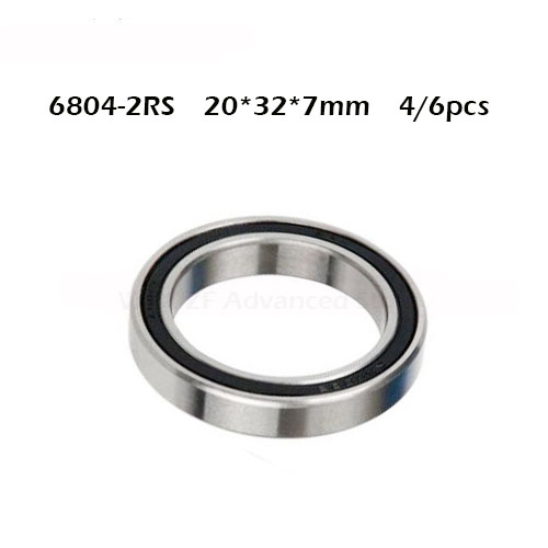 Free Shipping 4/6PCS ABEC-1 6804-2RS High Quality 6804RS 6804 2RS RS 20x32x7 Mm 20*32*7mm Rubber Seal Deep Groove Ball Bearing