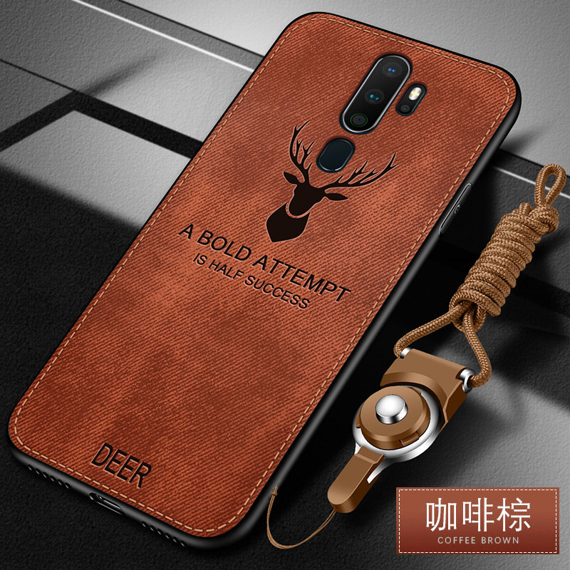 For OPPO A9 2020 Case Luxury Soft Silicone+Hard fabric Deer Cat Protective Back Cover Case for OPPO A5 2020 phone shell|Fitted Cases|   - AliExpress