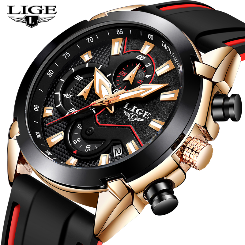 Relogio Masculino New Silicone Watchband Waterproof Quartz Watch For Mens Watches Top Brand Luxury Male Fashion Sport Watch+Box