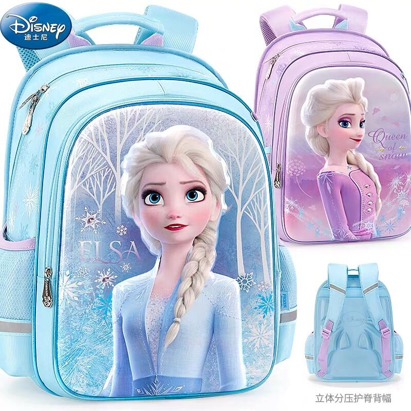 HOT Genuine Disney Frozen 2 Elsa Olaf 42CM Shcool Bag EVA Backpack Girls Children Bags For Age 6-12Y Knapsack Bag Birthday Gift