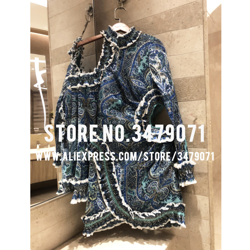 Stop118 printing dress cut-out