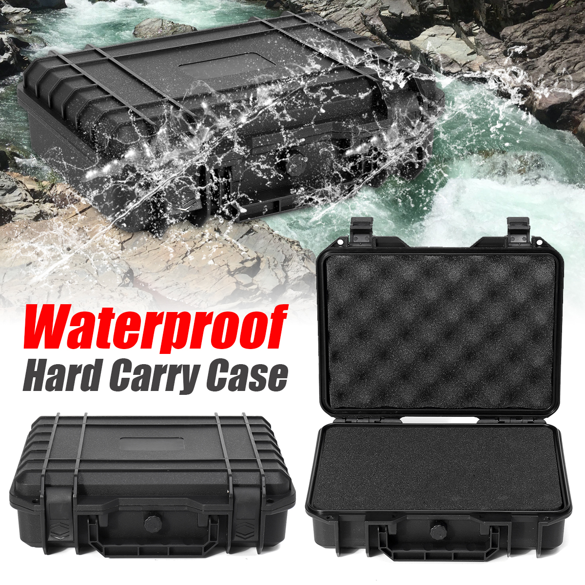 9 Sizes Waterproof Hard Carry Tool Case Bag Storage Box Camera Photography with Sponge for tools