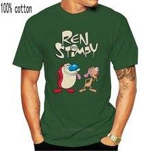 Ren ve Stimpy T Shirt günlüğü hediye doğum günü hediyesi mevcut Unisex Tee karikatür Attitud