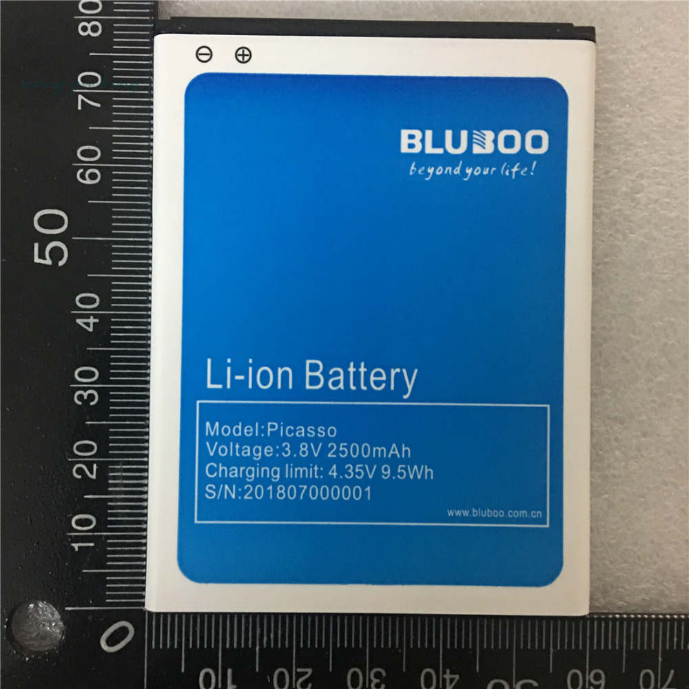 New Battery For Bluboo Picasso Battery Replacement 100% Original 2500mAh Back Up Battery For Bluboo Picasso Mobile Phone