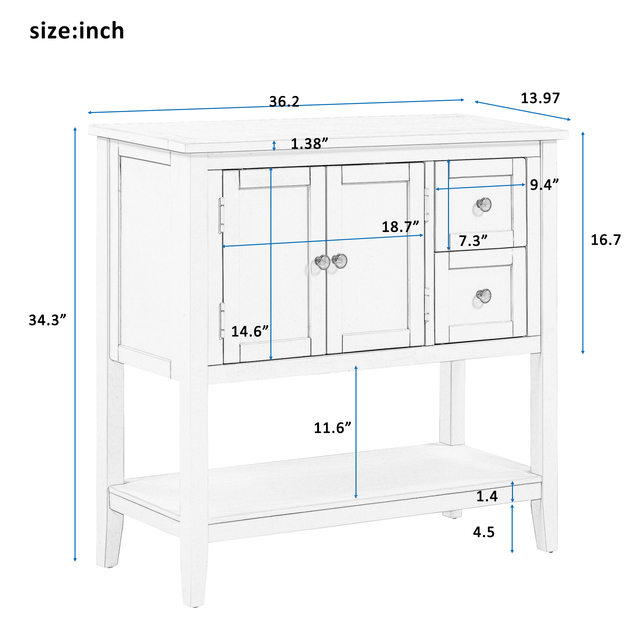 36'' Modern Console Accent Table  6