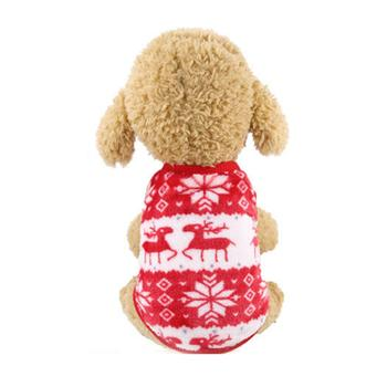 Hot Funny Dog Clothing Christmas Jacket Coat Hoodie Sweater Jumpsuit Puppy Winter Warm For Small Large Dogs Cats Pet Clothes image