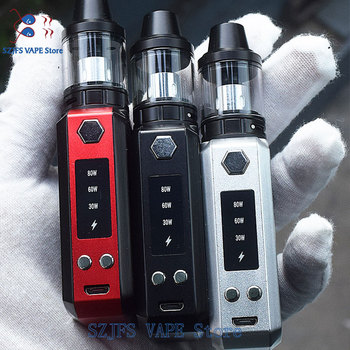 Cool 80w VAPE kit 30-80w Box Mod Laser e-cigarette vape kit with Atomizer Electronic Cigarette Kit Vaporizer Vaper Pen warwolf huge vapor 150w vape kit big power 150w box mod laser e cigarette cool vaper kit 3500mah battery electronic cigarette vaporizer