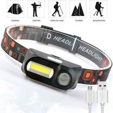 XPE COB Rechargeable Headlamp Light Hiking Camping Motorcycle Bike Running Headlight USB Waterproof Flashlight