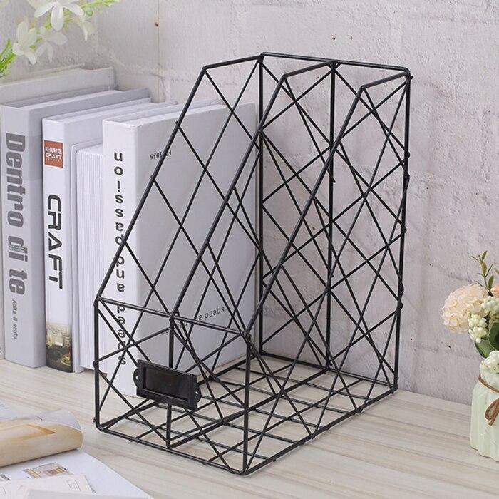 Нордическая книжная подставка для папок железная настольная многослойная стойка для журналов стойка для хранения косметики AS99