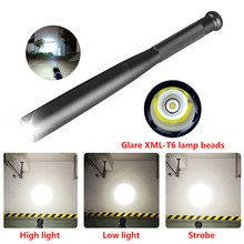 Baseball Bat Flashlight LED Flashlight Super Bright Baton Torch Emergency Self Defense Aluminium Alloy Torch waterproof фонарик