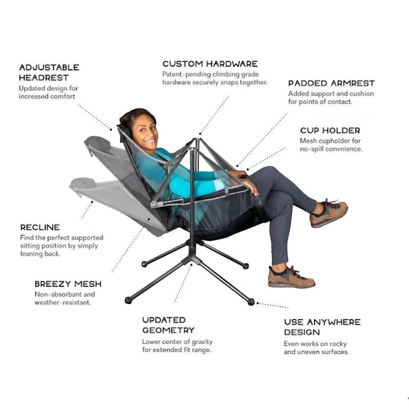 Уличное кресло качели для кемпинга складной стул с подушкой