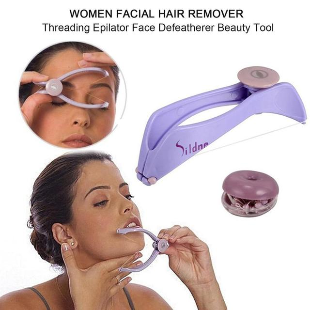 Women Facial Hair Remover Spring Threading Epilator Face Defeatherer DIY Makeup Beauty Tool for Cheeks Eyebrow 3