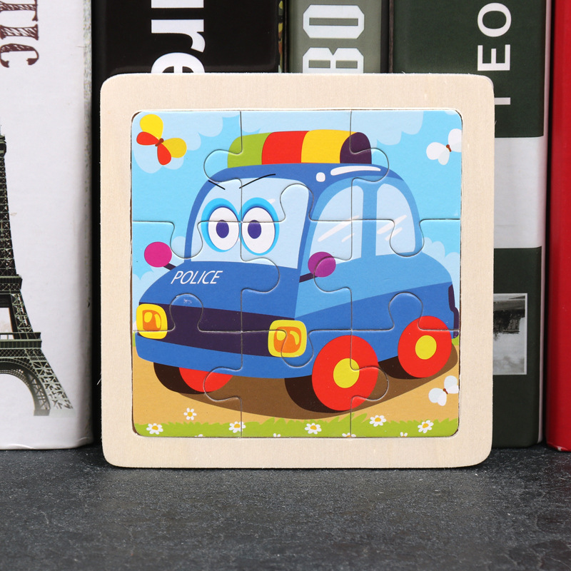 Wood Puzzles Children Adults Vehicle Puzzles Wooden Toys Learning Education Environmental Assemble Toy Educational Games 35