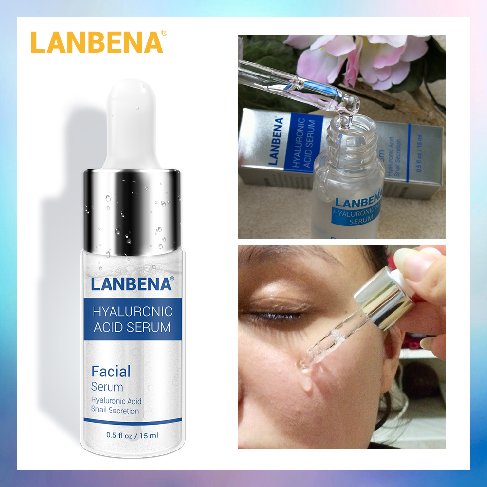 LANBENA HA Hyaluronic Acid Serum Moisturizing Essence Skin Face Care Cream Blackhead Acne Treatment Whitening Cream Ageless