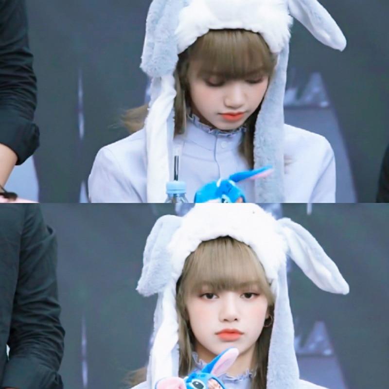 Airbag-Hat Rabbit Cute Move for Fans LJJ89 Plush-Toy JENNIE Able LISA Blackpink Rose-Jisoo