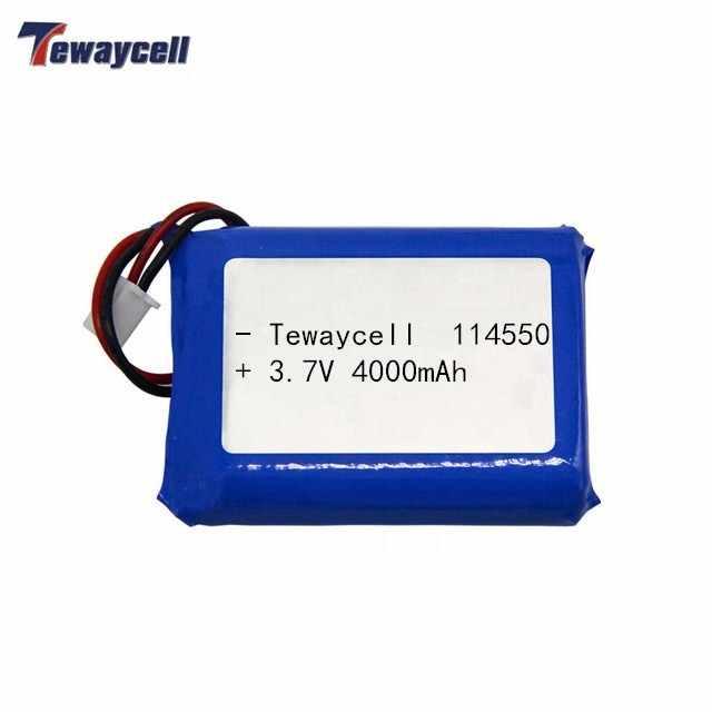 2 pçs/lote recarregável bateria de polímero de lítio 114550 3.7v 4000mAh com pcb e fios