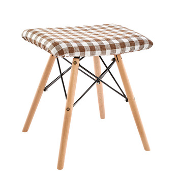 Solid wood stool fabric dining stool makeup stool fashion creative computer stool dressing home bench