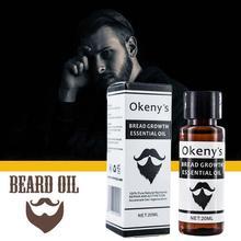 Beard-Growth-Essential-Oil Oil-Care Moustache Moisturizes Maintenance for Gentlemen D2W6