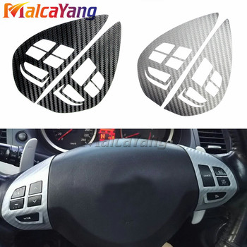 Steering Wheel Switch Button Audio Cruise Control Button Sticker Cover Trim For Mitsubishi ASX Lancer Outlander RVR Pajero Sport image