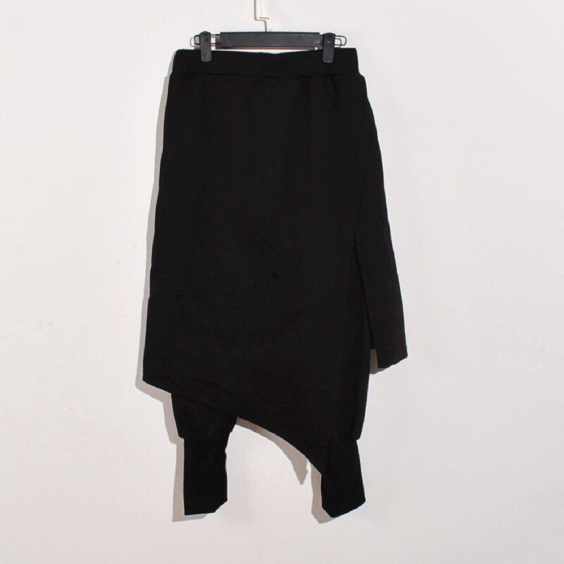 Men Plus Size Casual Drape Drop Crotch Harem Punk Pants Baggy Dancing Trousers Man Gothic Style Double Layer Black Pants INCERUN