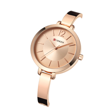 CURREN Ladies Watches Fashion Romantic Women Ultra Thin Stainless Steel Water Resistant Exquisite Casual Quartz